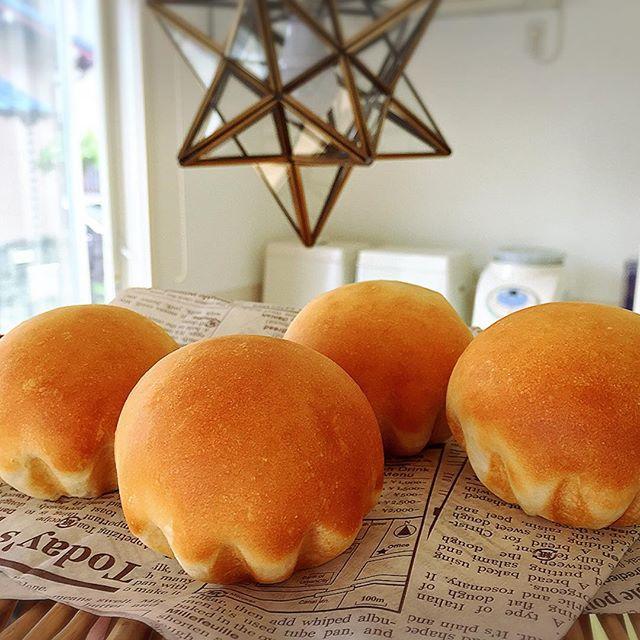 いつもの実験パン教室体験レッスンのパンをミルクで捏ねた。ミルクだとヤッパリ、色が綺麗♪#ぱん #パン #bread #pain #実験パン教室 #実験パン職人 #実穂 つなこ(まほ つなこ)