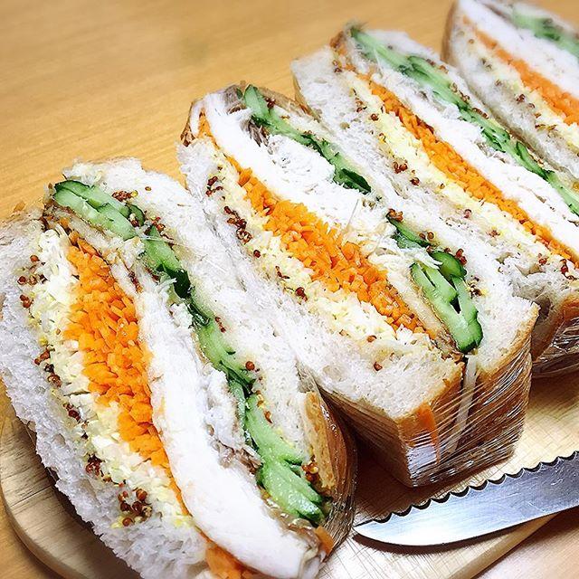 超多加水パンで作った鯖サンド︎最近「萌え断」なるものが流行ってるらしい♪#bread #pain #パン #ぱん #実穂つなこ #実験パン教室 #実験パン職人 #萌え断